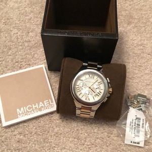 MICHAEL KORS SILVER AND GOLD WATCH!